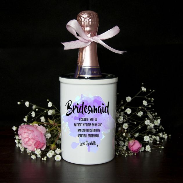 Personalised Bridesmaid Miniature Champagne Bucket